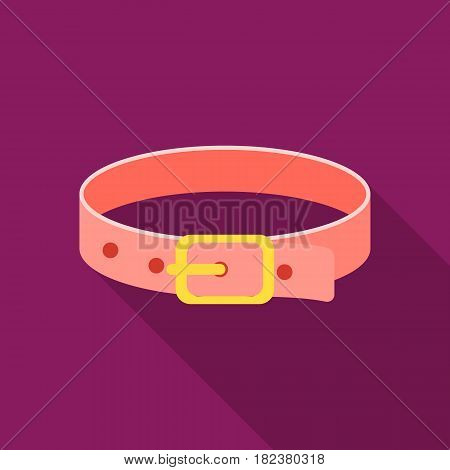 Pet collar icon in flate style isolated on white background. Cat symbol vector illustration.