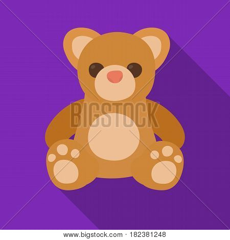 Toys donation icon in flate design isolated on white background. Charity and donation symbol stock vector illustration.