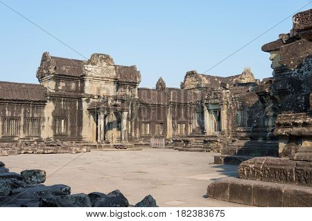 Siem Reap, Cambodia - Feb 5 2015: Angkor Wat. A Famous Historical Site(unesco World Heritage Site) I
