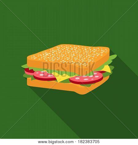 Sandwich vector illustration icon in flat design