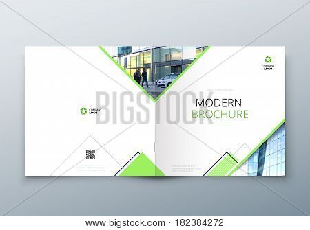 Square Brochure design for architecture, travel, real estate, fashion, hotel, property, education, eco, sport, transport Corporate business template for rectangle brochure report catalog magazine