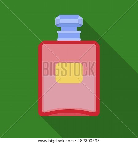 Bottle of french perfume icon in flat design isolated on white background. France country symbol stock vector illustration. - stock vector