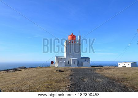 Iceland's Dyrholaey Lighthouse in the village of Vik.