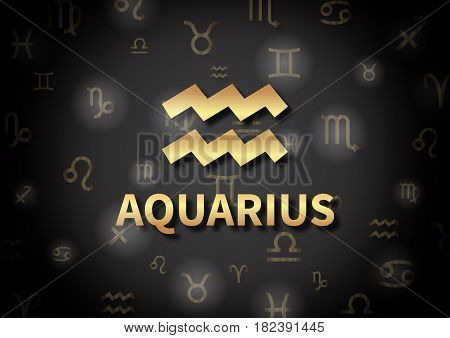 An Illustration Representing The Zodiac Sign Of Aquarius