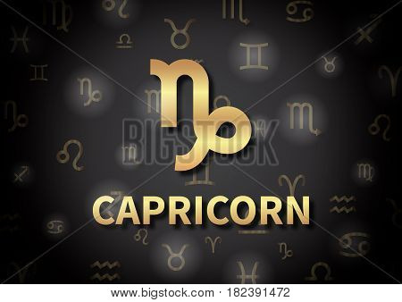 An Illustration Representing The Zodiac Sign Of Capricorn
