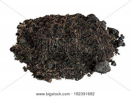 soil black nature isolate on white background