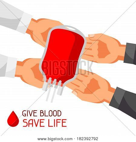 Donate blood save life. Medical and healthcare concept.