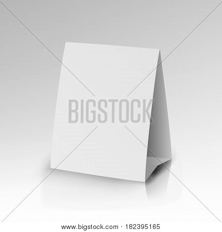 White Paper Stand Table Tag Flyer Vector illustration