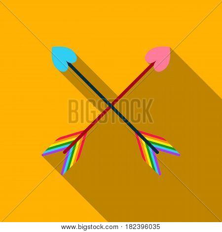 Arrow icon flat. Single gay icon from the big minority, homosexual flat.