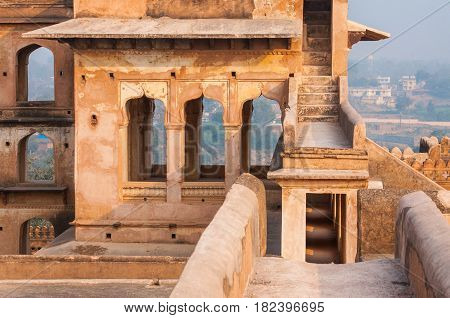 Ancient Indian temple, old fortress ruins, great monument