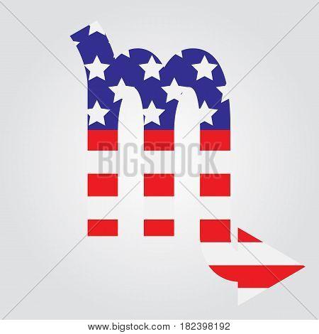 Usa Flag In Form Of Scorpio Zodiac Sign