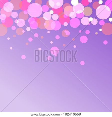 bokeh effect vector abstract background on purple backgraund