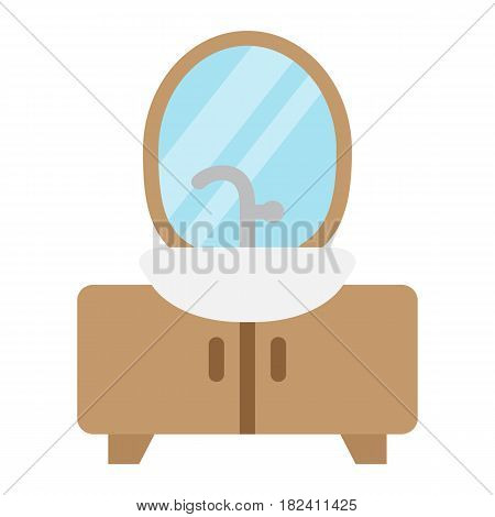 Hanger floor flat icon, Furniture and interior element, vector graphics, a colorful solid pattern on a white background, eps 10.
