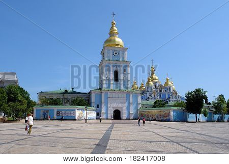 Saint Michael's Golden-Domed Monastery in Kiev the capital of Ukraine