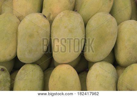 Raw Organic Yellow Mangos Ready to Eat