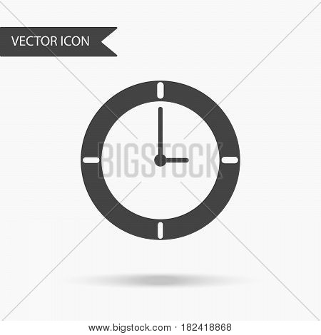 Vector business icon clock. Icon for for annual reports charts presentations workflow layout banner number options step up options web design. Contemporary flat design.