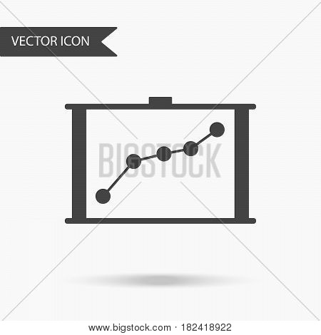Vector business icon graph. Icon for for annual reports charts presentations workflow layout banner number options step up options web design. Contemporary flat design.