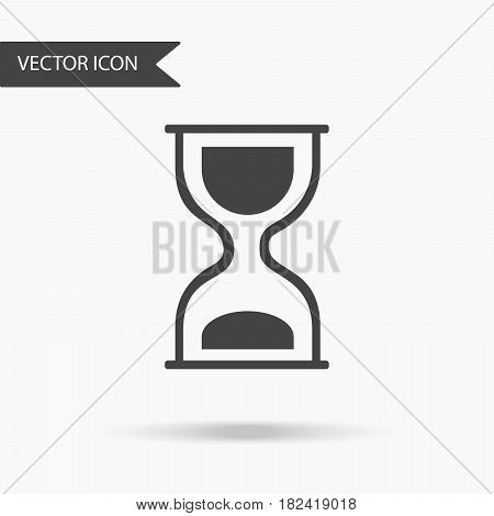 Vector business icon hourglass. Icon for for annual reports charts presentations workflow layout banner number options step up options web design. Contemporary flat design.
