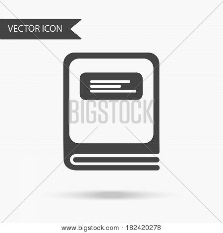 Vector business icon closed book. Icon for for annual reports charts presentations workflow layout banner number options step up options web design. Contemporary flat design.