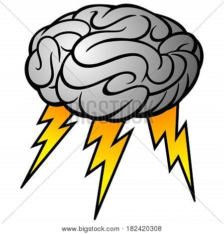 A vector illustration of a human Brain storm.
