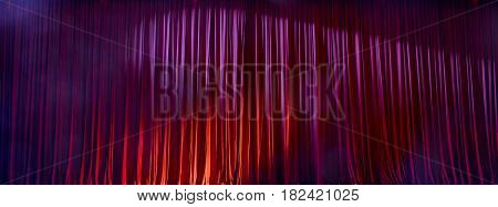 Panorama Red Curtains.
