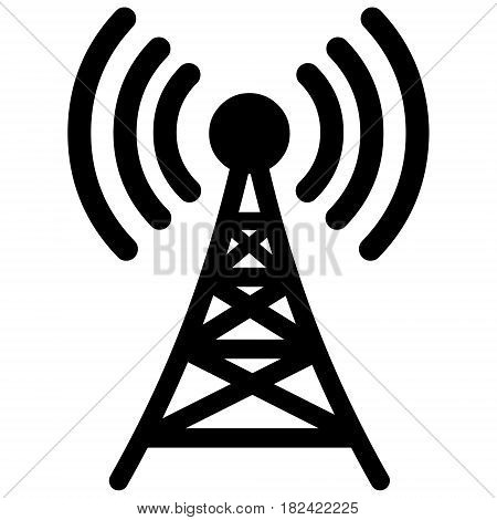 A vector illustration of a broadcasting tower.