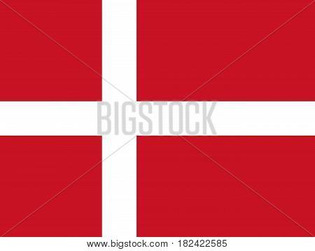 National Flag of Denmark. Vector illustration. Eps 10.