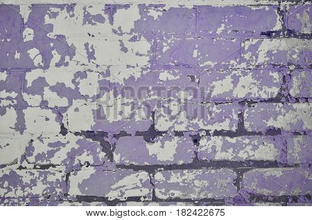 The Texture Of A Very Old Brick Wall With A Peeling And Rough Coat Of Paint