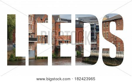 Leeds Word Postcard