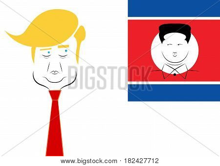 Donald Trump and Kim Jong North Korea