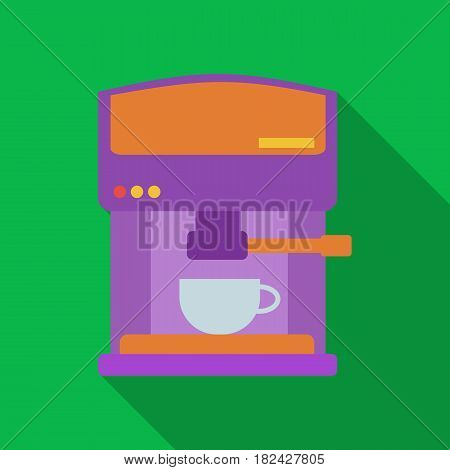 Coffeemaker icon in flate style isolated on white background. Kitchen symbol vector illustration.