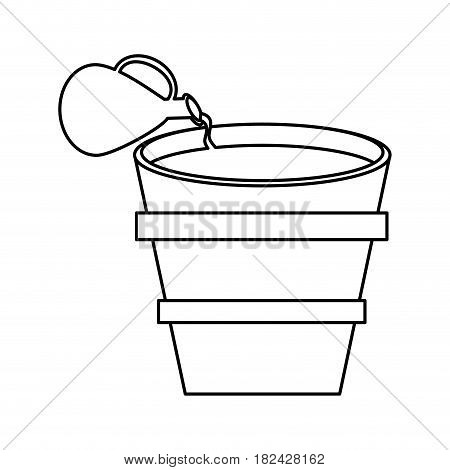 miracle water winr jar and pot wooden outline vector illustration eps 10
