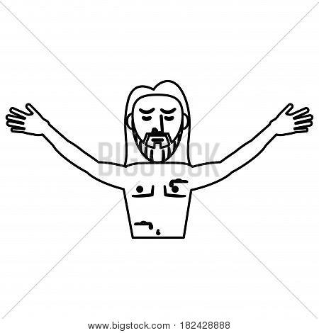 jesus christ resurrection symbol outline vector illustration eps 10