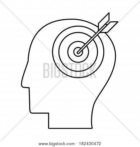 head human target outline vector illustration eps 10