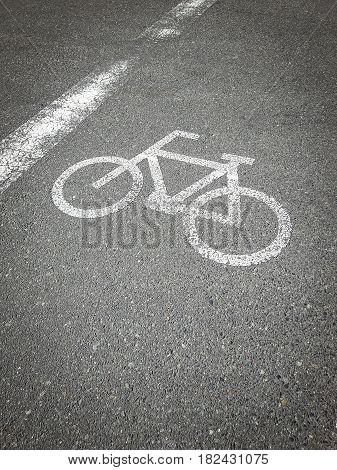 Bike lane, road for bicycles. empty bicycle lane with place your text