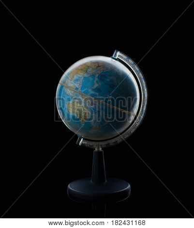 Globe sphere orb model effigy. vintage style world global education geography travel earth