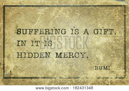 Suffering Mercy Rumi