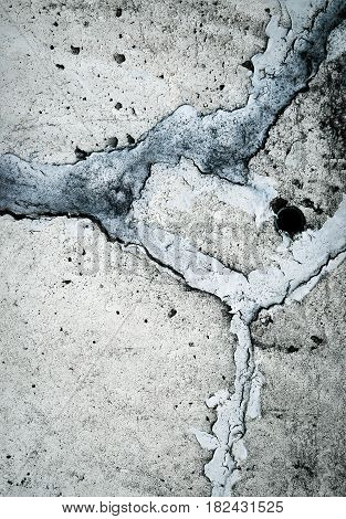 abstract background or texture Concrete with cracks filled with sealant