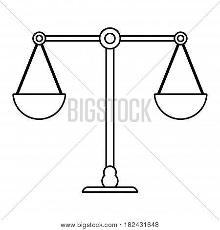 scale weight balance outline vector illustration eps 10