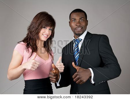 Business Partners Thumbs Up