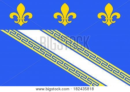 Flag of Troyes is a commune and the capital of the department of Aube in north-central France. Vector illustration