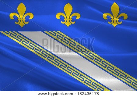 Flag of Troyes is a commune and the capital of the department of Aube in north-central France. 3d illustration