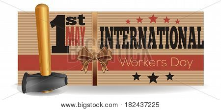 International Workers Day. 1st May. Template flyer for the International Labor Day. Vector illustration