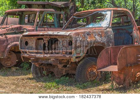 Old Machinery Rusted Up.