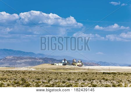 Old Borax Factory In The Desert Near Death Valley Junction