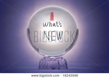 What Is New, Words In Magic Crystal Ball