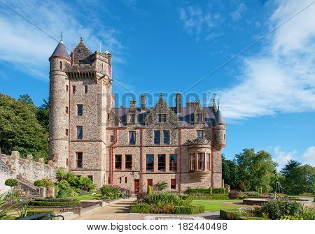 Belfast castle. Tourist attraction on the slopes of Cavehill Country Park in Belfast Northern Ireland