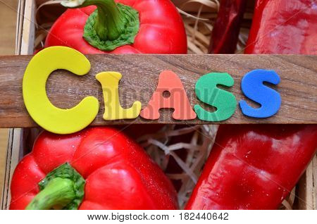 word class on a  abstract colorful background