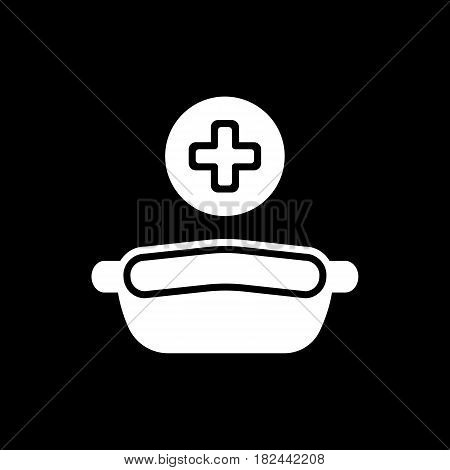 Conteiner for medical tools. Vector icon. Conteiner for dentist tools and surgical. Eps 10