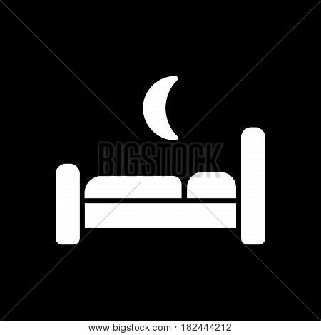 The bed icon. Hotel symbol. restroom Flat Vector illustration. Eps 10